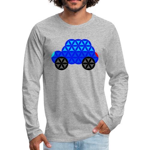 The Car Of Life - M01, Sacred Shapes, Blue/R01. - Men's Premium Longsleeve Shirt