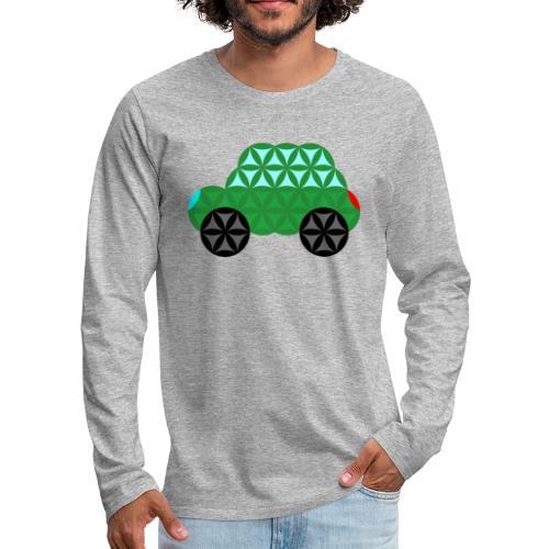 The Car Of Life - M02, Sacred Shapes, Green/363 - Men's Premium Longsleeve Shirt