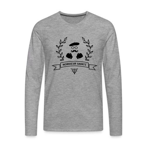 Monsieur Savate logo1 - T-shirt manches longues Premium Homme