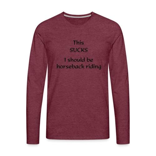 sucks - Miesten premium pitkähihainen t-paita