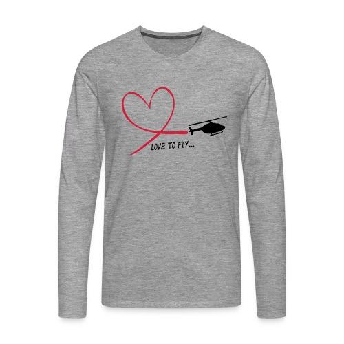 love_to_fly_jet_ranger - Männer Premium Langarmshirt