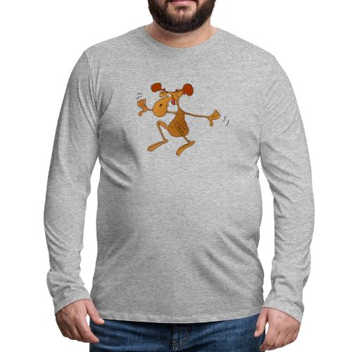 elch huepft - Männer Premium Langarmshirt