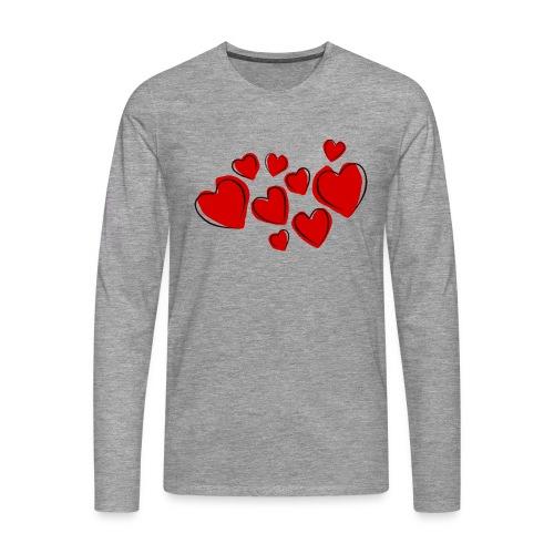 hearts herzen - Männer Premium Langarmshirt