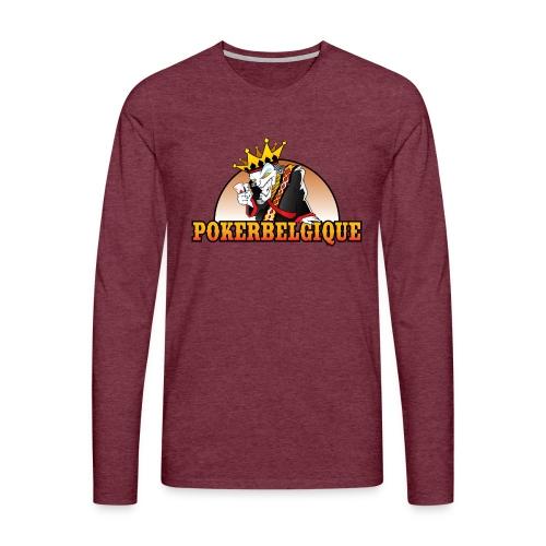 Logo Poker Belgique - T-shirt manches longues Premium Homme