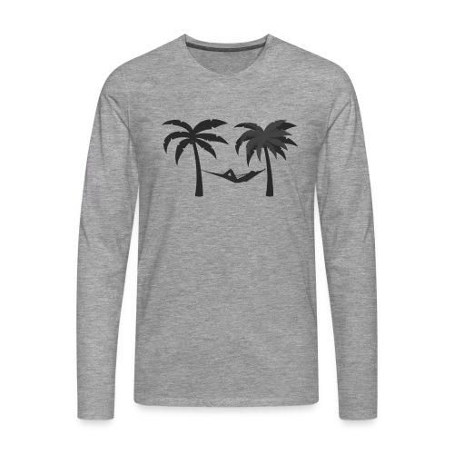 Hängematte mitzwischen Palmen - Männer Premium Langarmshirt