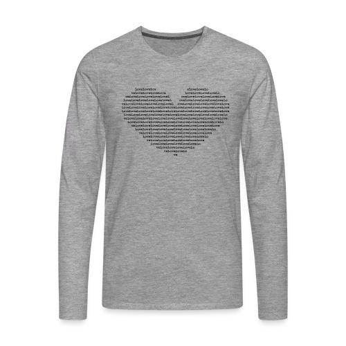Isle of black Ascii Heart - Men's Premium Longsleeve Shirt
