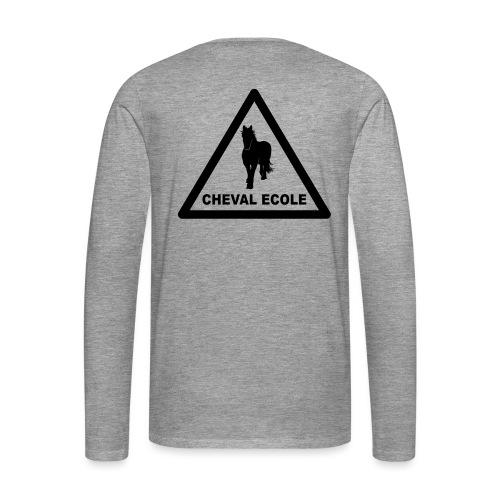 chevalecoletshirt - T-shirt manches longues Premium Homme