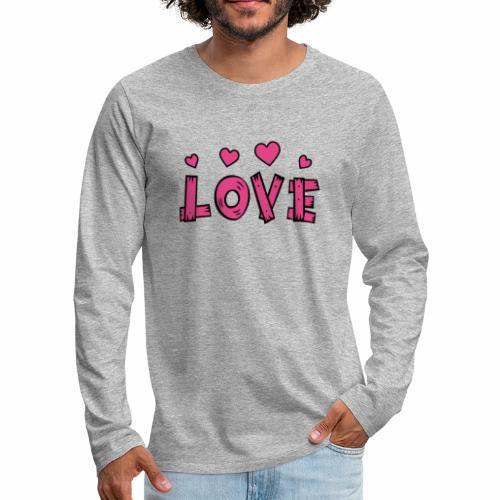 Love tuoteperhe - Miesten premium pitkähihainen t-paita
