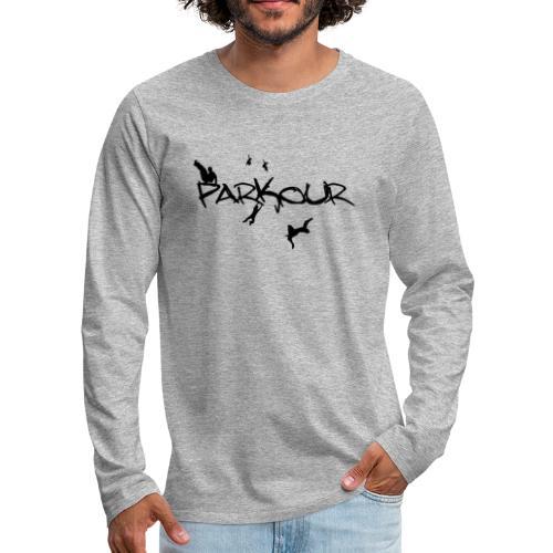 Parkour Sort - Herre premium T-shirt med lange ærmer