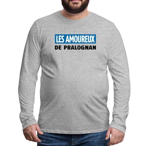 les amoureux de pralognan texte - T-shirt manches longues Premium Homme