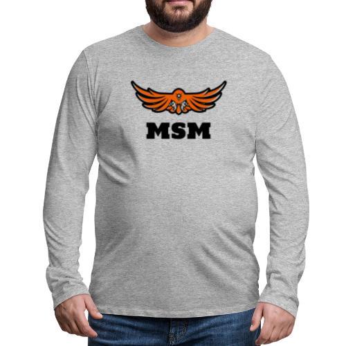 MSM EAGLE - Herre premium T-shirt med lange ærmer