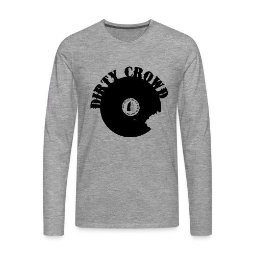 DC LOGO SVART - Långärmad premium-T-shirt herr