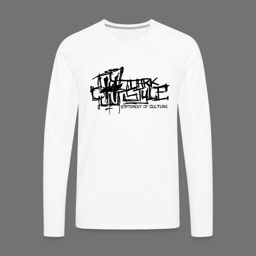 Tumma Style - Statement of Culture (musta) - Miesten premium pitkähihainen t-paita