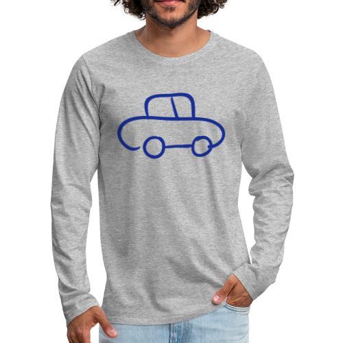 Van Line Drawing Pixellamb - Männer Premium Langarmshirt