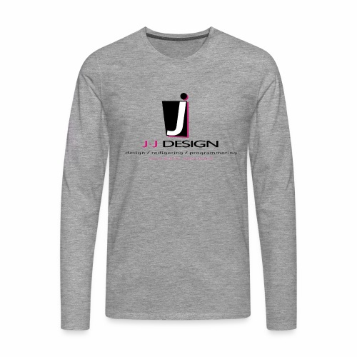 LOGO_J-J_DESIGN_FULL_for_ - Herre premium T-shirt med lange ærmer