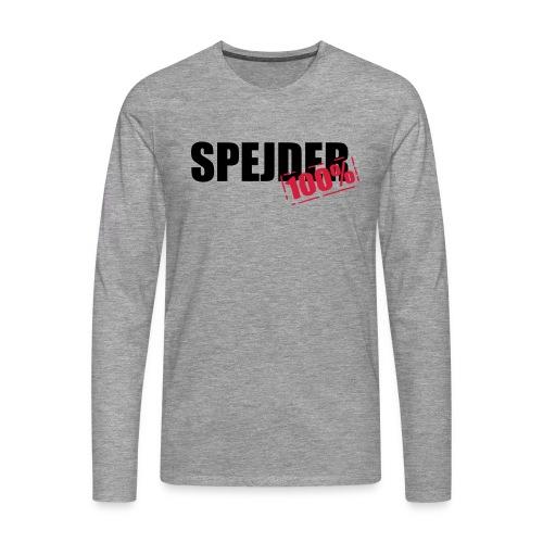 100procent spejder stempel - Herre premium T-shirt med lange ærmer