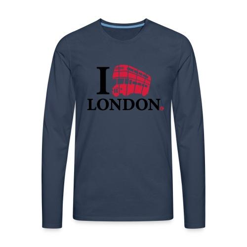 I love (Double-decker bus) London - Men's Premium Longsleeve Shirt
