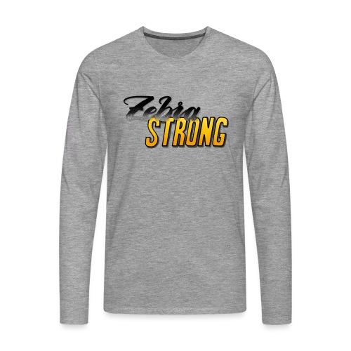 Zebra Strong - Männer Premium Langarmshirt