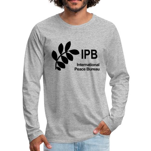 International Peace Bureau IPB Logo black - Men's Premium Longsleeve Shirt