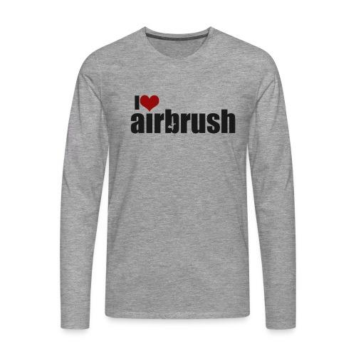 I Love airbrush - Männer Premium Langarmshirt