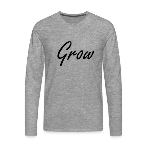 Grow - Männer Premium Langarmshirt