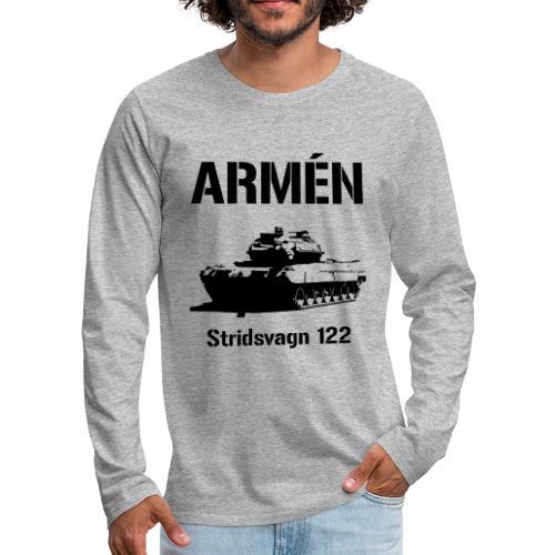 ARMÉN - Stridsvagn 122 - Långärmad premium-T-shirt herr