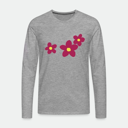 Three Flowers - Men's Premium Longsleeve Shirt