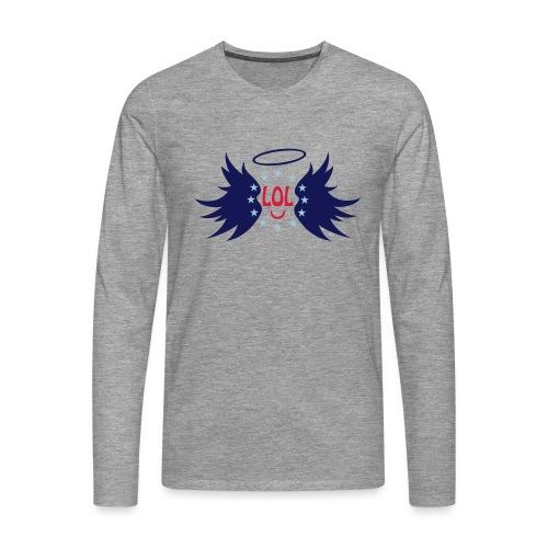 Tablier de cuisine : LOL avec aile ange - Men's Premium Longsleeve Shirt