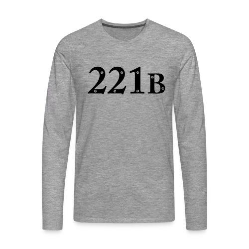 Sherlock Holmes - 221B - Männer Premium Langarmshirt
