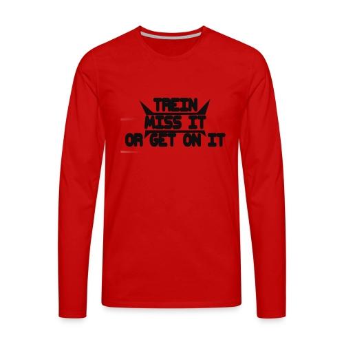 MISS-HIT - Miesten premium pitkähihainen t-paita