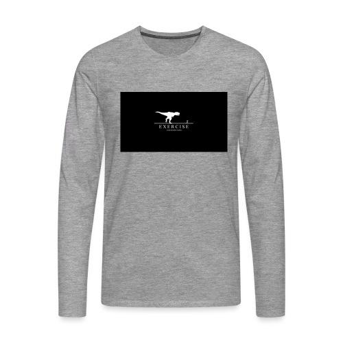 dino - Mannen Premium shirt met lange mouwen