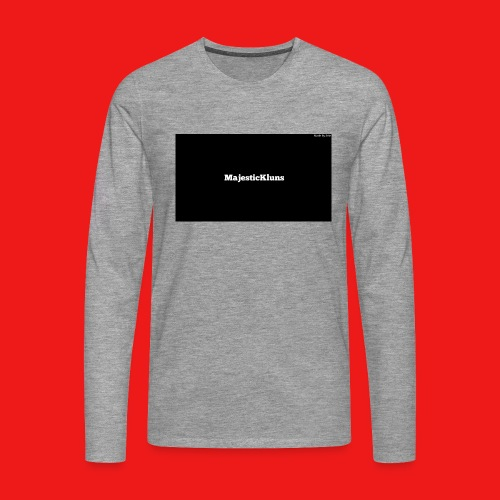 New - Herre premium T-shirt med lange ærmer
