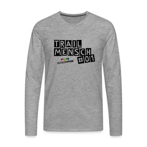 TrailMensch#01m - Männer Premium Langarmshirt