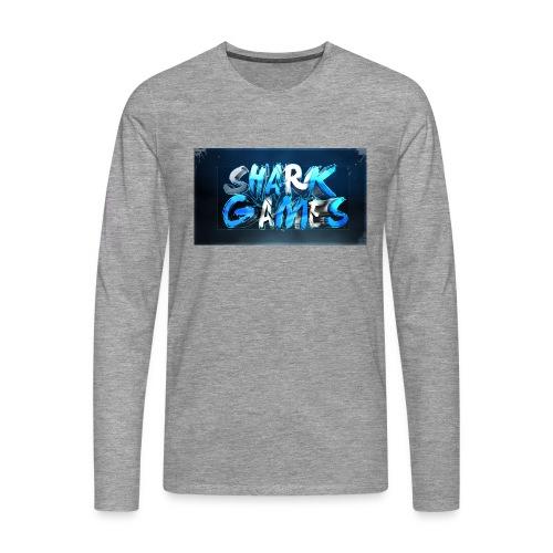 SharkGames - Maglietta Premium a manica lunga da uomo