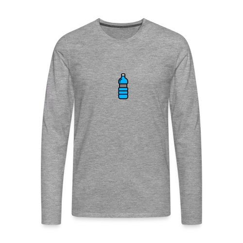 Bottlenet Tshirt Grijs - Mannen Premium shirt met lange mouwen