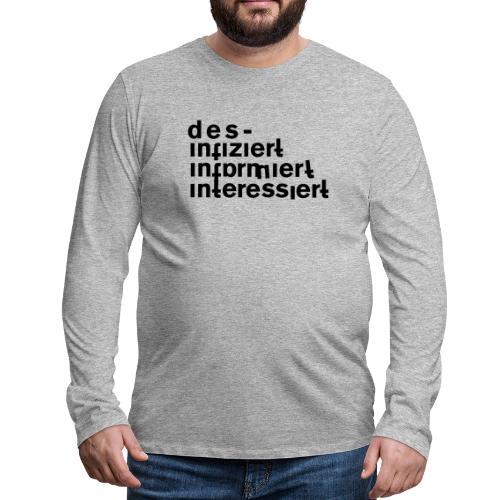 desinfiziert - Männer Premium Langarmshirt