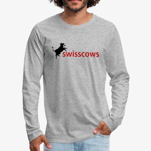 Swisscows Logo - Männer Premium Langarmshirt