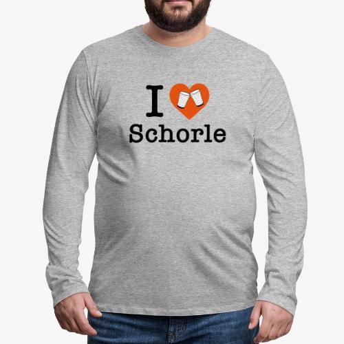 I love Schorle – Dubbeglas - Männer Premium Langarmshirt