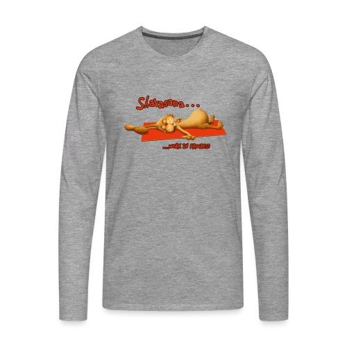Time for Shavasana - Männer Premium Langarmshirt