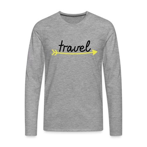Travel - Männer Premium Langarmshirt