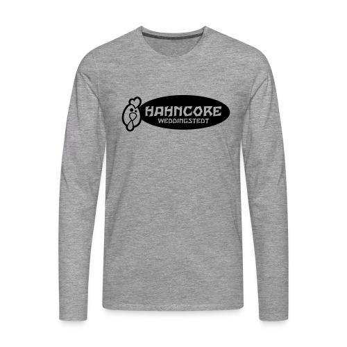 hahncore_sw_nur - Männer Premium Langarmshirt