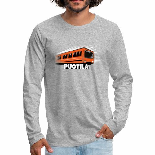 HELSINKI PUOTILA METRO T-Shirts, Hoodies, Gifts - Miesten premium pitkähihainen t-paita