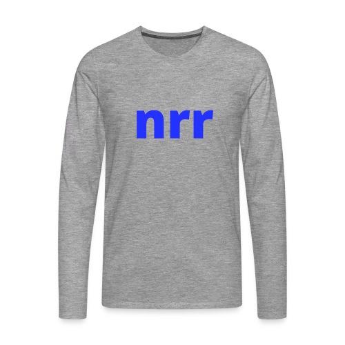 NEARER logo - Men's Premium Longsleeve Shirt