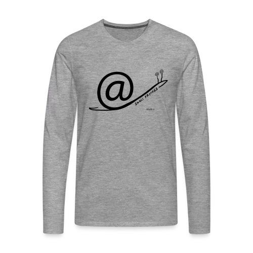 Snail Express - Maglietta Premium a manica lunga da uomo