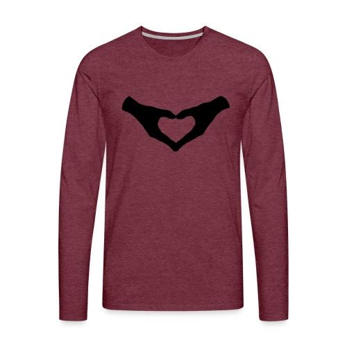 Herz Hände / Hand Heart 2 - Männer Premium Langarmshirt