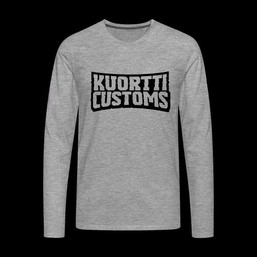kuortti_customs_logo_main - Miesten premium pitkähihainen t-paita