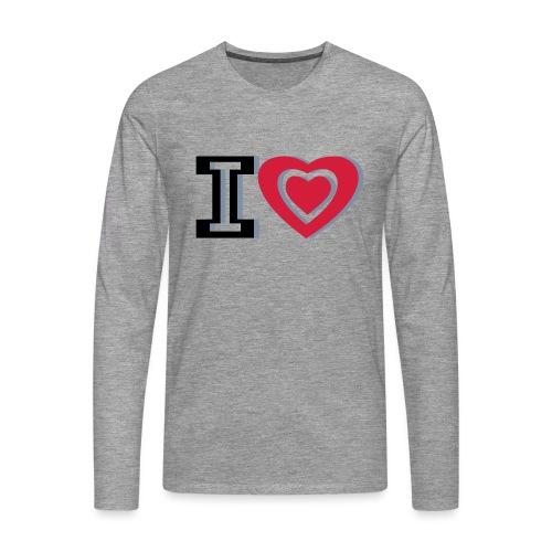 I LOVE I HEART - Men's Premium Longsleeve Shirt