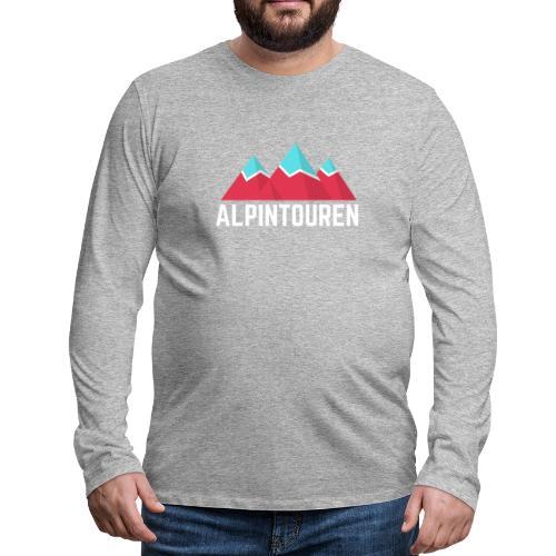 Alpintouren Logo - Männer Premium Langarmshirt