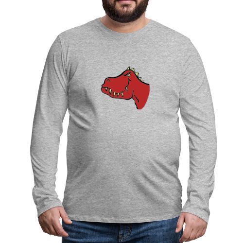 T Rex, Red Dragon - Men's Premium Longsleeve Shirt