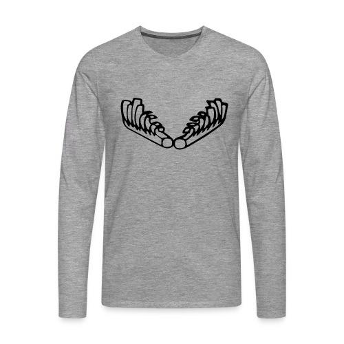 Kiehiset_logo-musta - Miesten premium pitkähihainen t-paita
